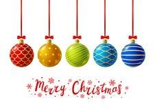 Color Christmas balls Royalty Free Stock Photo