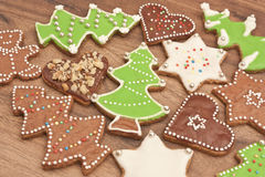 Color christmas cakes Royalty Free Stock Images