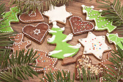 Color christmas cakes Stock Photography