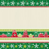 Color christmas card, vector Royalty Free Stock Image