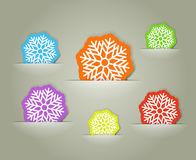 Color christmas flakes Royalty Free Stock Photography