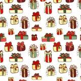 Color Christmas gifts seamless Stock Photos