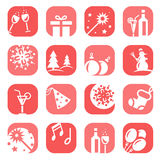 Color christmas icon set Stock Photography