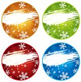 Color christmas labels, vector Royalty Free Stock Photos