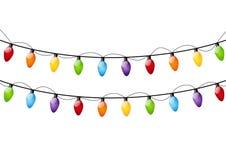 Color Christmas light bulbs vector illustration