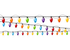 Color Christmas light bulbs Royalty Free Stock Image