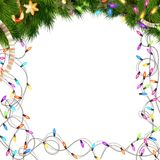 Color Christmas light bulbs on white. EPS 10 Royalty Free Stock Images