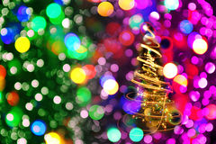 Color christmas lights as nice background Royalty Free Stock Photography