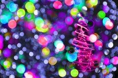 Color christmas lights as nice background Stock Image