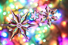 Color christmas lights background Stock Photography