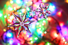Color christmas lights background Stock Photo