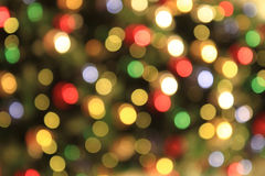 Color christmas lights background Stock Image