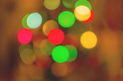 Color christmas lights background stock images