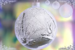 Color christmas lights holiday background stock photo