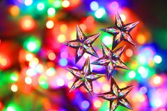 Color Christmas Lights With Decorative Object