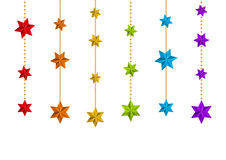 Color Christmas starry decorations on white Stock Photo