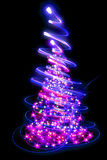 Color christmas tree Stock Photos