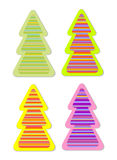 Color christmas tree sticker Royalty Free Stock Photos