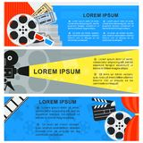 Color cinema banner Stock Images