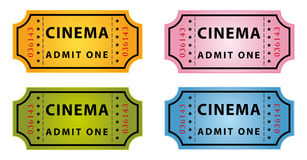 Color cinema tickets Stock Images