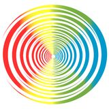 Color circle. Illustration of Circle background made from different colored curled objects Stock Illustration