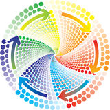 Color circle. And circle arrow Royalty Free Stock Photography