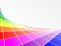 Color circle. Abstract background element with lines and multiple colors stock illustration