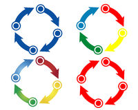 Color circle arrows Royalty Free Stock Photography