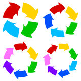 Color circle arrows set Stock Photo