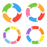 Color Circle Arrows Set Stock Photos
