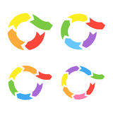 Color Circle Arrows Set Stock Photography
