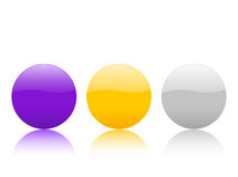 Color circle buttons 2. Color circle buttons, isolated on white background. Vector illustration Royalty Free Stock Photos