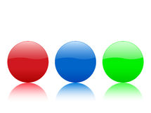 Color circle buttons. Isolated on white background. Vector illustration Stock Photography