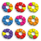 Color circle graph Stock Image