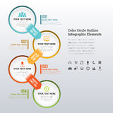 Color Circle Outline Infographic Elements Royalty Free Stock Photography