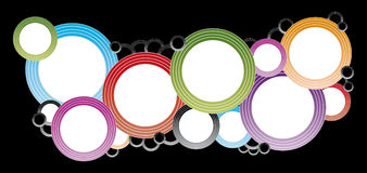 Color circles. Template with black background vector illustration