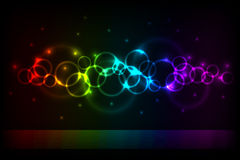 Color circles background Stock Image