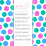 Color circles background Stock Photography