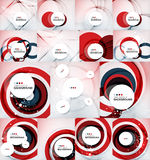 Color circles backgrounds set Royalty Free Stock Images