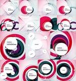 Color circles backgrounds set Stock Photo