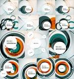 Color circles backgrounds set Stock Photos