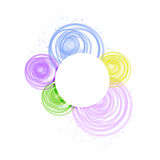 Color circles design sign illustration Stock Photos