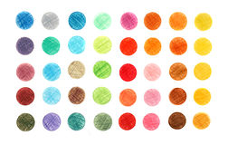 Color of the circles drawn Stock Photography