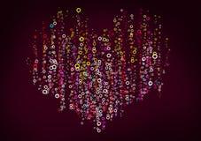 Color circles heart Royalty Free Stock Photos