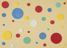 Color circles on paper Royalty Free Stock Images