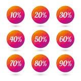 Color circles percent discounts Stock Photography