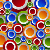 Color circles wallpaper Royalty Free Stock Photos