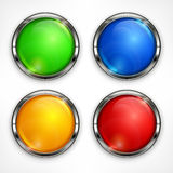 Color circles on white Royalty Free Stock Photography