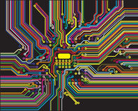 Color circuit Stock Images