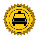 color circular seal of taxi car Royalty Free Stock Photos